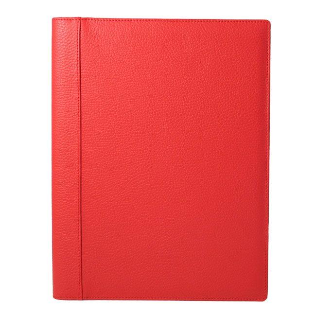 A4 Schreibmappe Leder rot – Bild 1