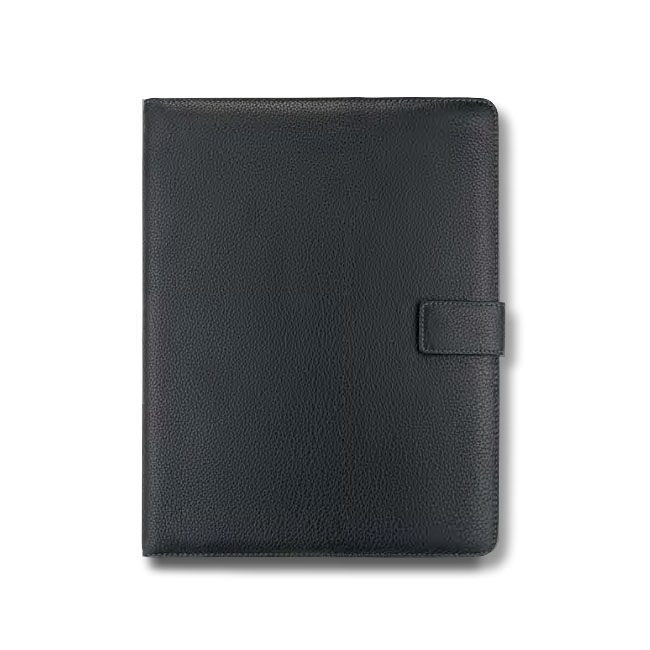 A4 Schreibmappe Leder mit Druckknopf – Bild 1