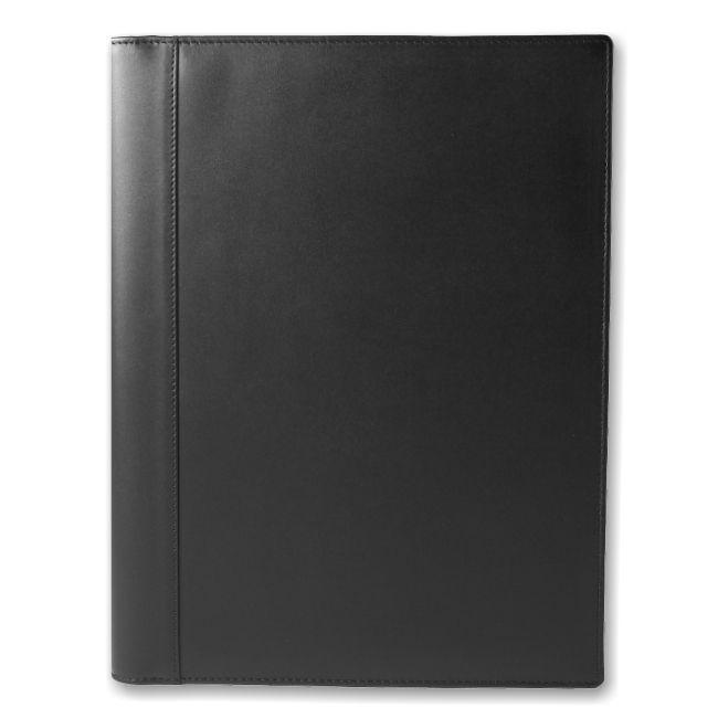 Schreibmappe A4 Leder schwarz – Bild 1