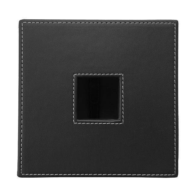 Papiertuchbox Kunstleder quadratisch schwarz – Bild 4