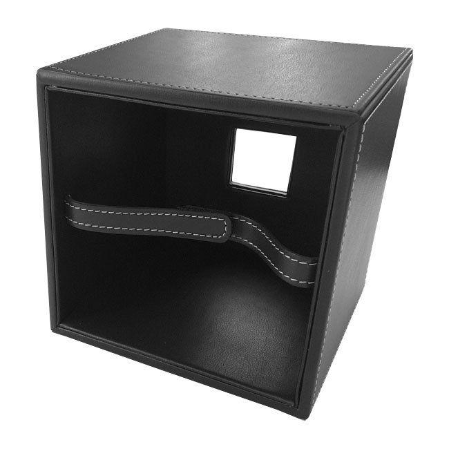 Papiertuchbox Kunstleder quadratisch schwarz – Bild 5