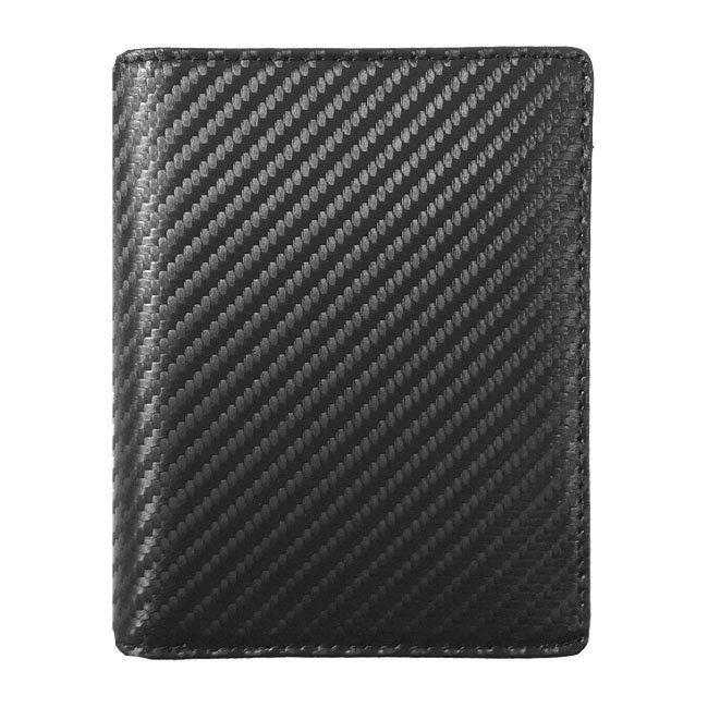 Geldbeutel Carbon Leder Hochformat – Bild 1