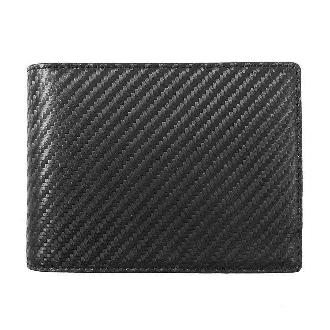 Geldbörse Carbon Leder Querformat – Bild 1