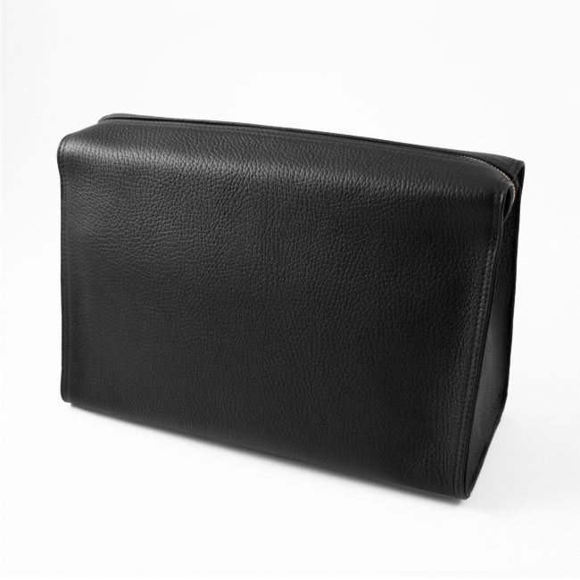 Kulturtasche Chervo Kalbleder schwarz – Bild 3