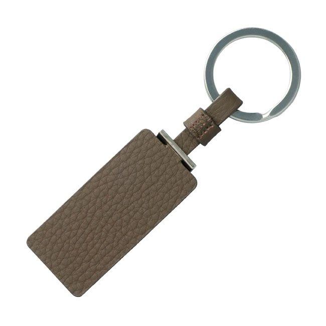 Cerruti 1881 Schlüsselring Hamilton Taupe Leder – Bild 2