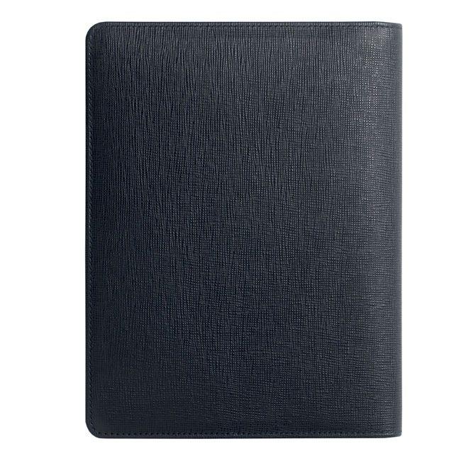 A5 Schreibmappe Tradition Blue Leder – Bild 4