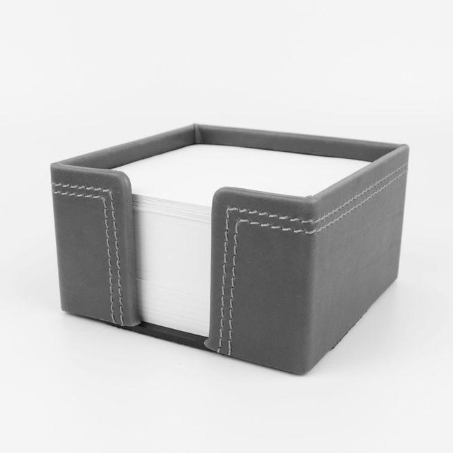 Zettelbox Kabana Leder grau – Bild 1