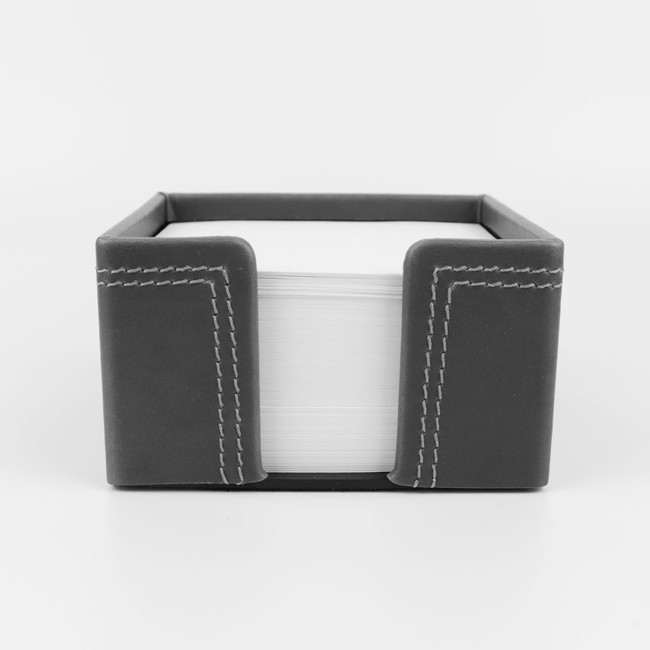 Zettelbox Kabana Leder grau – Bild 2