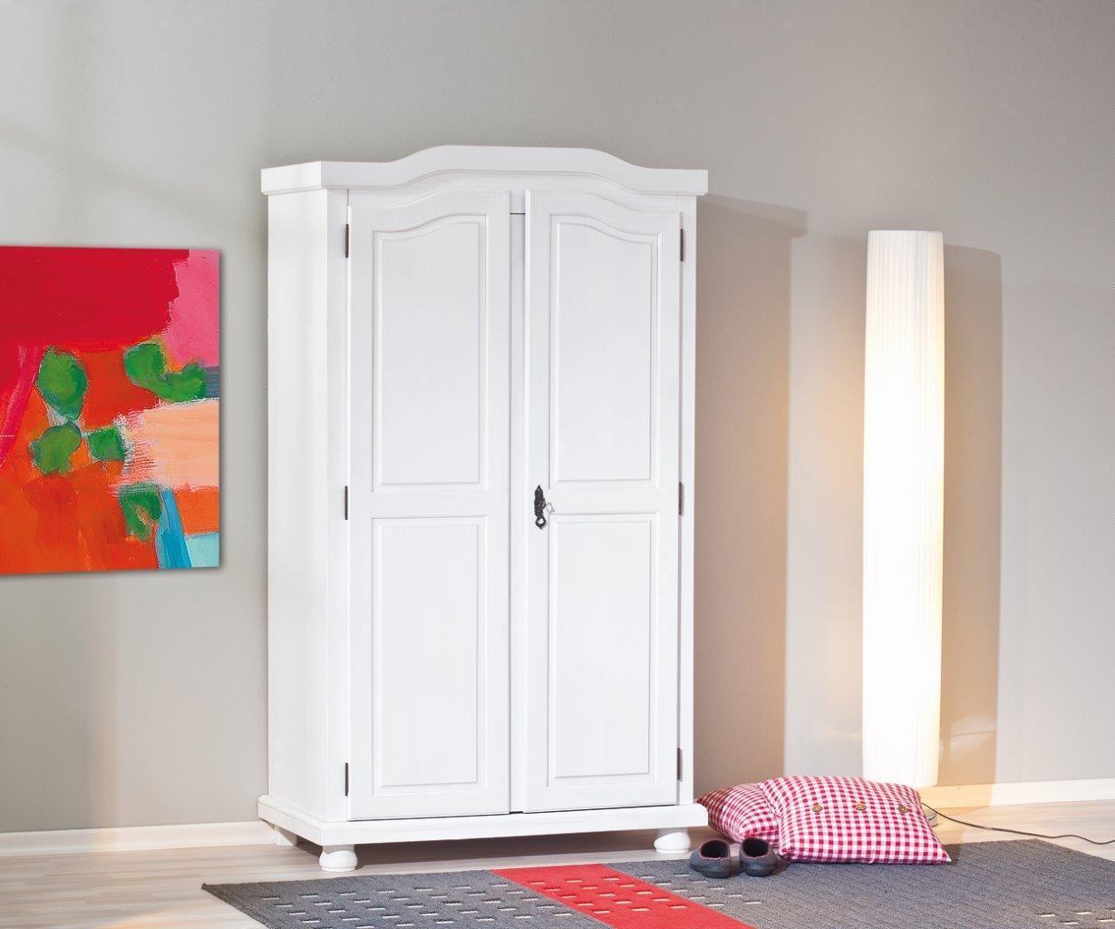 kleiderschrank hedda wei dielenschrank 2 t ren kiefer. Black Bedroom Furniture Sets. Home Design Ideas
