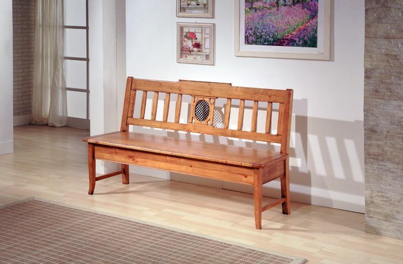einzelbank verona truhenbank mit r ckenlehne fichte massiv lackiert. Black Bedroom Furniture Sets. Home Design Ideas