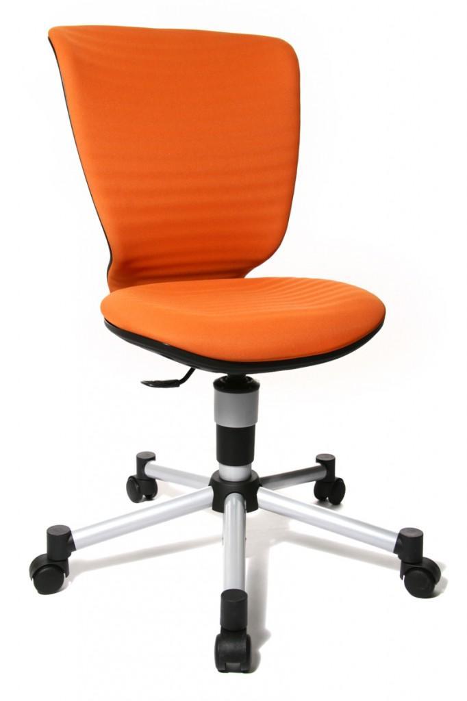 Titan Junior 3D Orange Jugenddrehstuhl mit neuem 3D Sitzgelenk