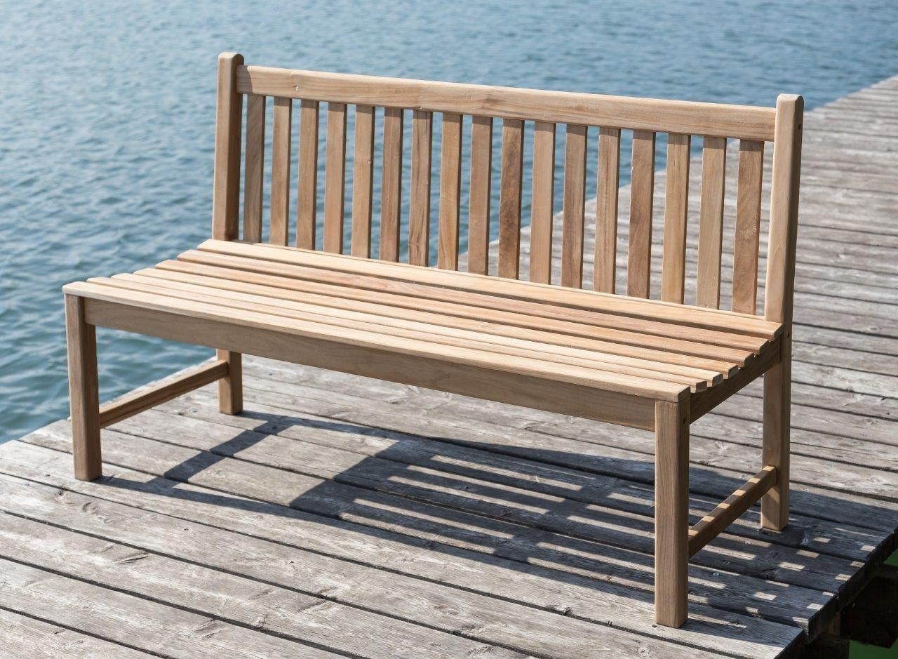Stabile Bank Gartenbank Picadelly 120 cm in Premium Teak ohne ...