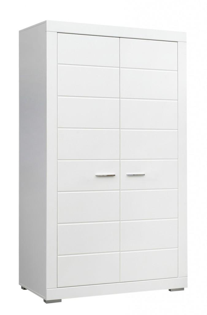 kleiderschrank snow schrank 2 t ren breite 116 cm wei matt. Black Bedroom Furniture Sets. Home Design Ideas