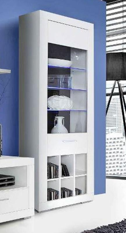 vitrine snow schrank 1 glast r inkl led beleuchtung. Black Bedroom Furniture Sets. Home Design Ideas