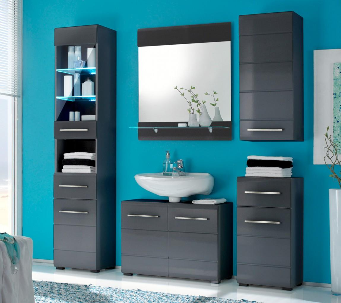 Badezimmermöbel Set Grau | Icnib
