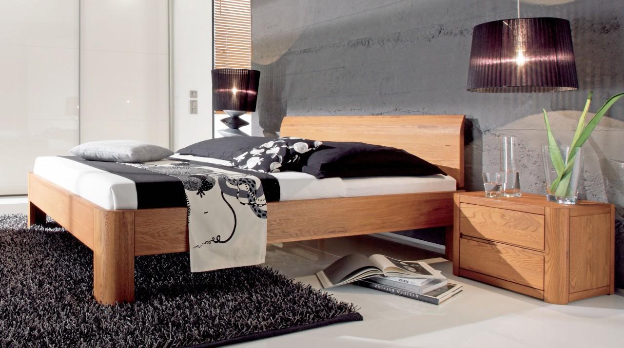 holzbett oak line eiche massiv kopfteil lisio von hasena. Black Bedroom Furniture Sets. Home Design Ideas