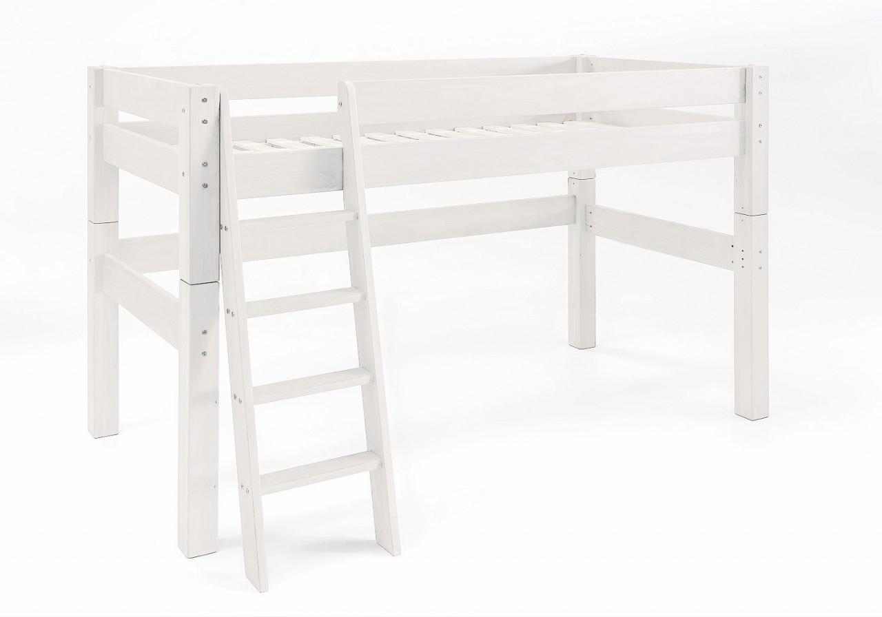 hochbett moby midisleeper mit leiter kinderbett kiefer von dolphin. Black Bedroom Furniture Sets. Home Design Ideas