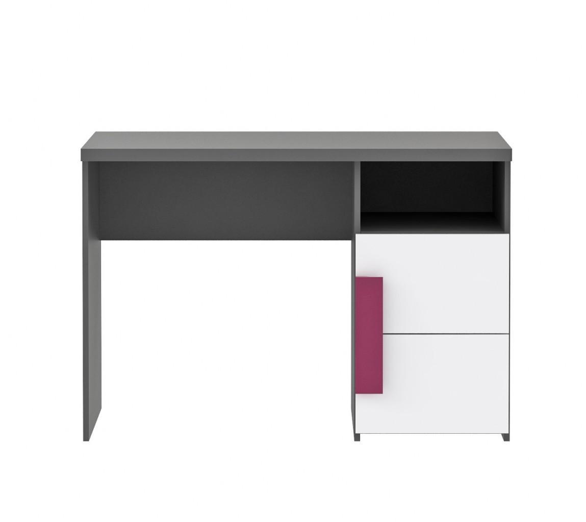 schreibtisch libelle jugendschreibtisch in grau wei. Black Bedroom Furniture Sets. Home Design Ideas