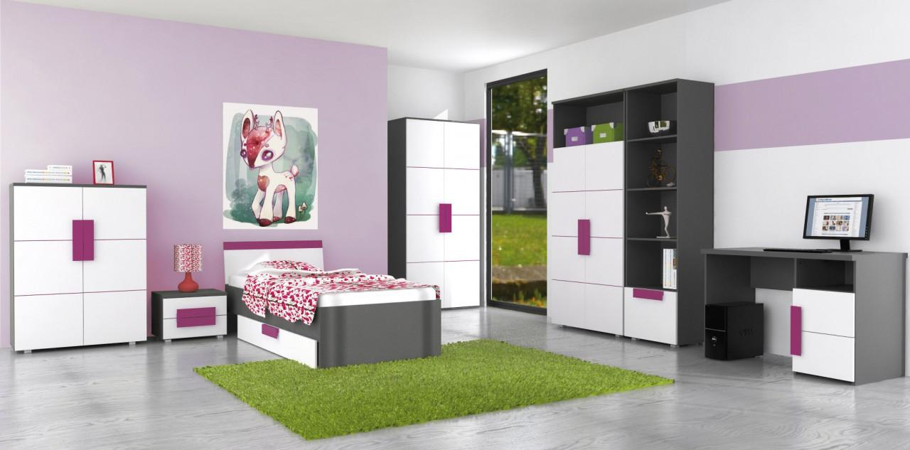 jugendzimmer komplett m dchen. Black Bedroom Furniture Sets. Home Design Ideas