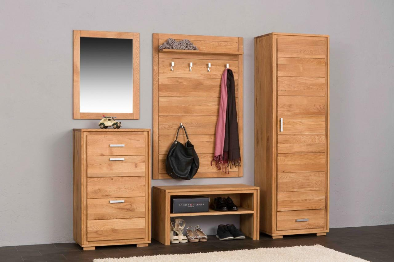 garderoben set basel iii wildeiche massivholz ge lt. Black Bedroom Furniture Sets. Home Design Ideas