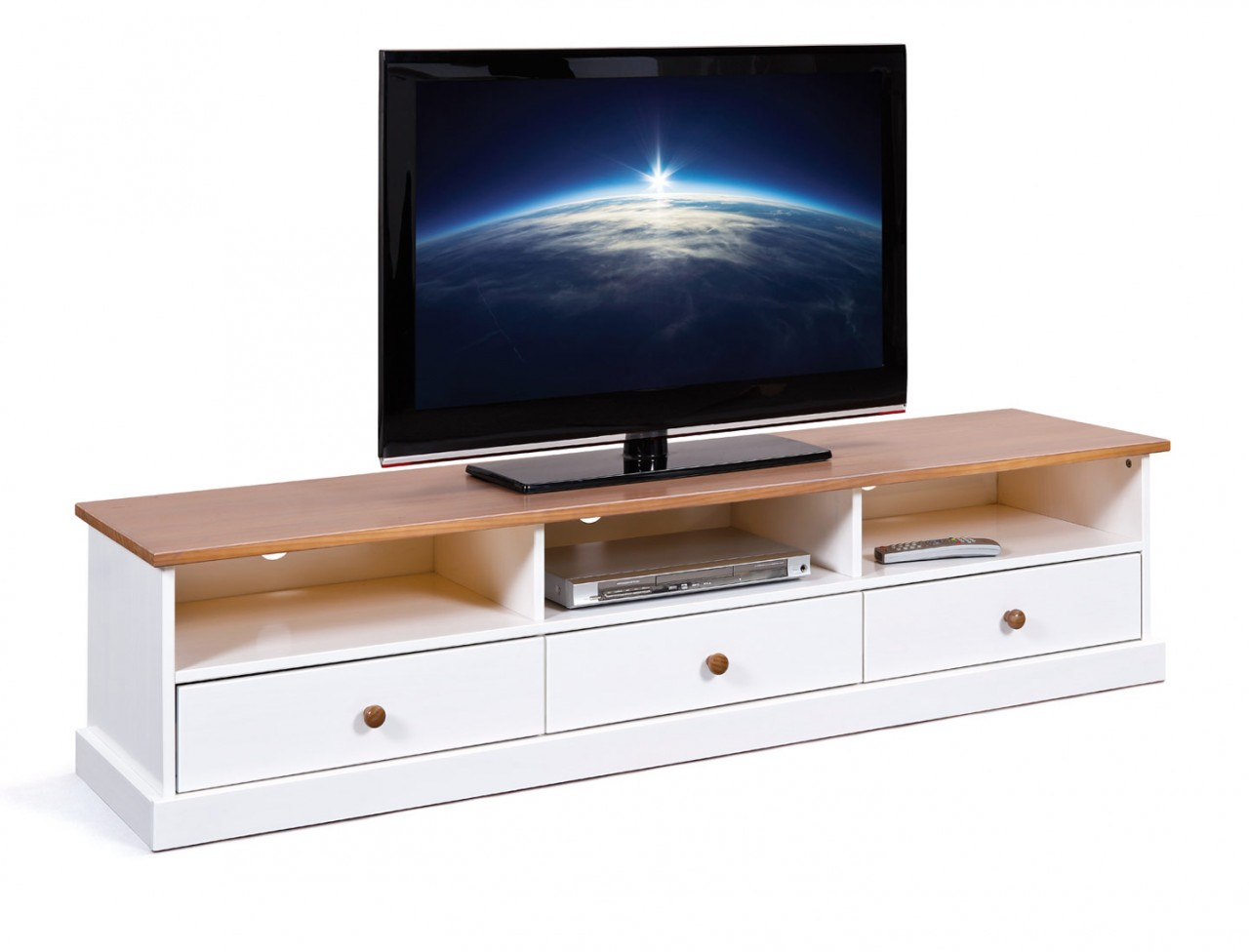 tv board westerland 180 cm kiefer wei lowboard im. Black Bedroom Furniture Sets. Home Design Ideas
