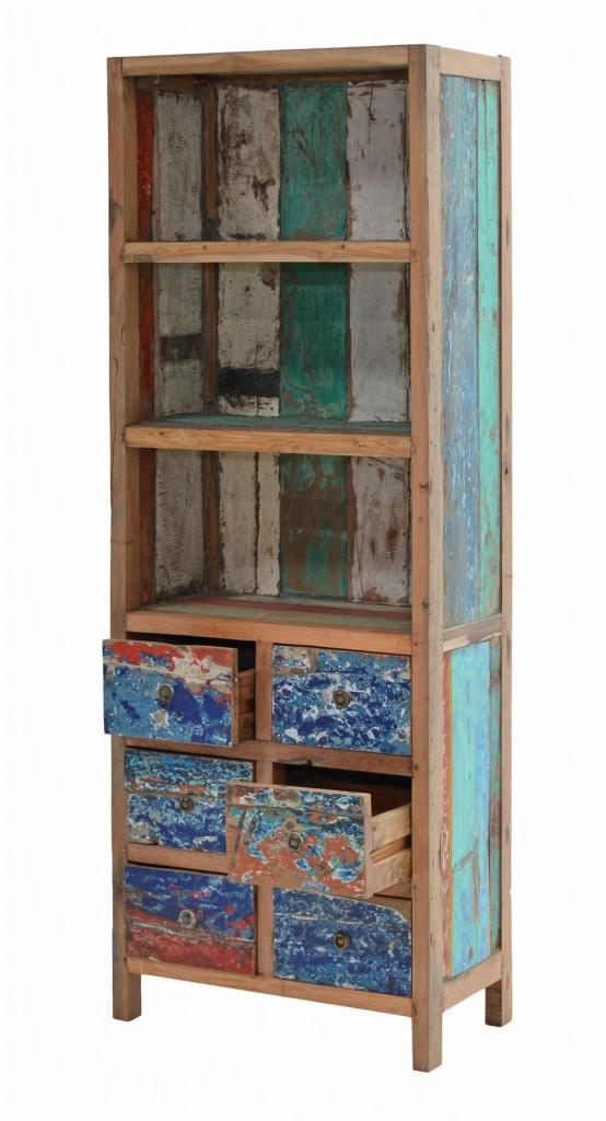 b cherregal seaside regal aus recycling teak. Black Bedroom Furniture Sets. Home Design Ideas