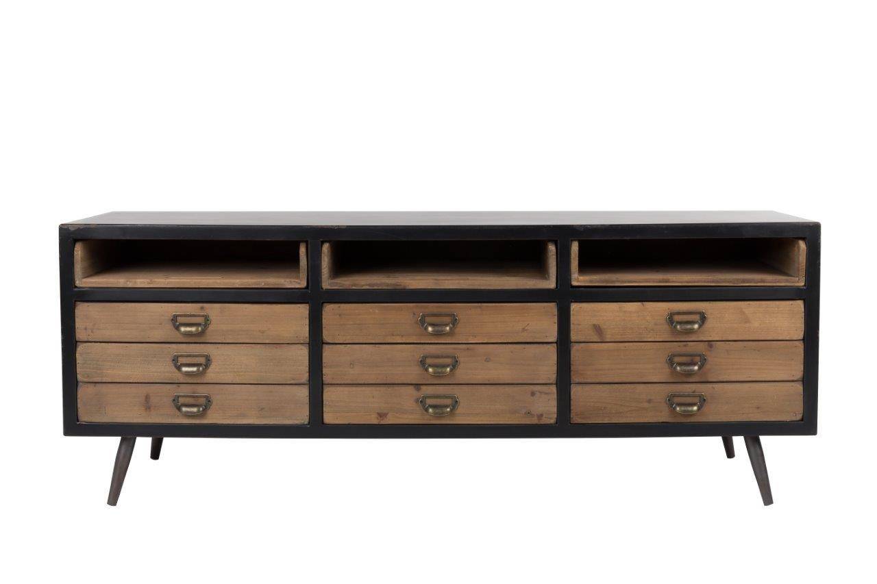 sideboard lowboard sol von dutchbone vintage style. Black Bedroom Furniture Sets. Home Design Ideas