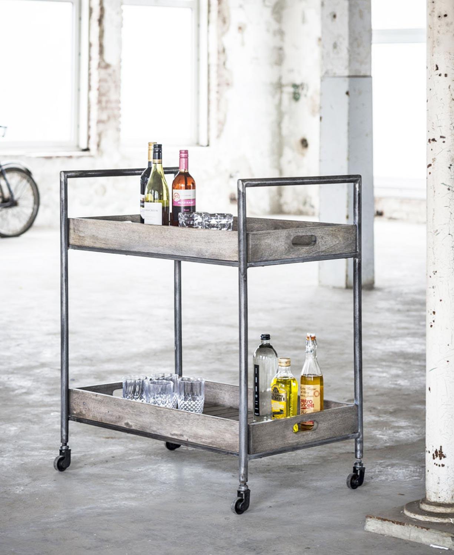 servierwagen rift mangoholz lehmbraun antik look. Black Bedroom Furniture Sets. Home Design Ideas
