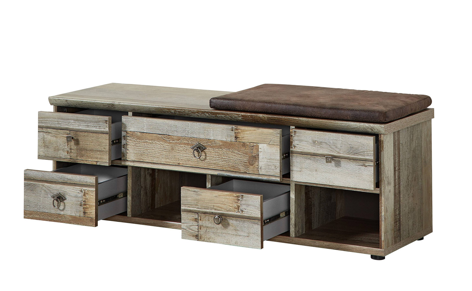 dielenbank flurbank bonanza 130 cm driftwood inkl kissen. Black Bedroom Furniture Sets. Home Design Ideas