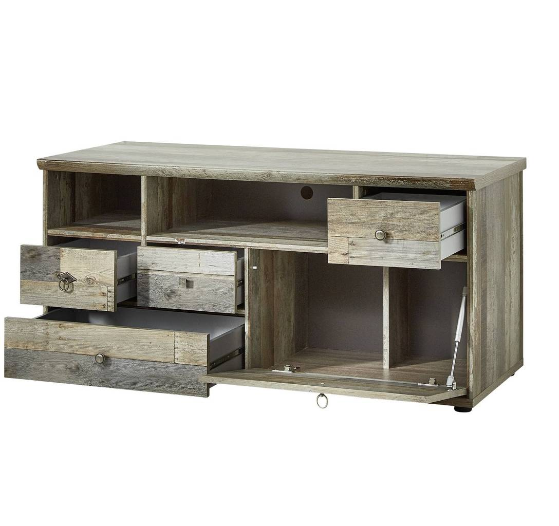 tv kommode bonanza 130 cm driftwood nachbildung. Black Bedroom Furniture Sets. Home Design Ideas
