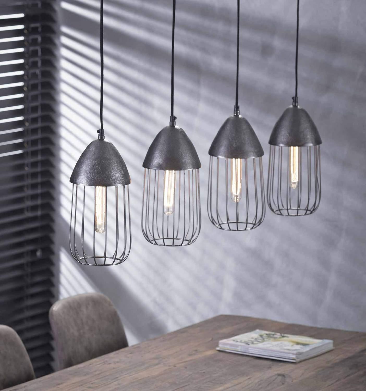 h ngeleuchte pendelleuchte anissa 4 flammig farbton black nickel. Black Bedroom Furniture Sets. Home Design Ideas