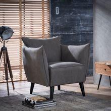 Design Sessel TAPSE Loungesessel mit Jeans Stoffbezug