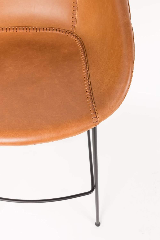 tresenhocker feston brown von zuiver. Black Bedroom Furniture Sets. Home Design Ideas