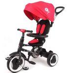 Qualitäts Dreirad 10-36 Monate Kinderdreirad mit Lenkstange Rito Deluxe rot 861 001
