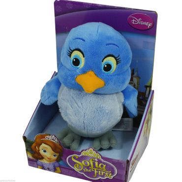 Plüschfigur 18 cm Plüsch Puppe Prinzessin Disney Sofia die Erste Vogel Mia