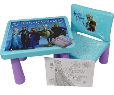 Eiskönigin Maltisch Kinder Malset Sitzgruppe Tisch Stuhl Anna Elsa Disney Frozen
