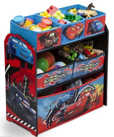 Disney Cars Multi Spielzeugkiste Organizer McQueen Regal Kindermöbel Holz 84521