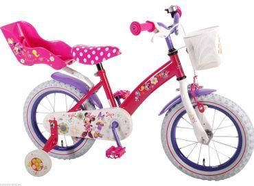 Fahrrad 14 Zoll Mädchen Pink Kinderfahrrad Mädchenfahrrad Disney Minnie Mouse 31426