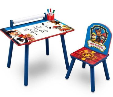 Paw Patrol Set Tisch Stuhl und Papierrolle Maltisch Kindertisch Blau 89535PW