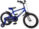 16 Zoll Fahrrad Qualitäts Kinderfahrrad mit Stützräder und Rücktritt Blau 61609 001