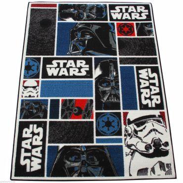 Star Wars Teppich 133x95 cm Kinderteppich Spielteppich Disney StarWars Icons
