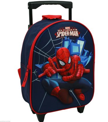 Spiderman Trolley Rucksack 2 in 1 Kinderkoffer mit Ziehgriff Spider Man 6958