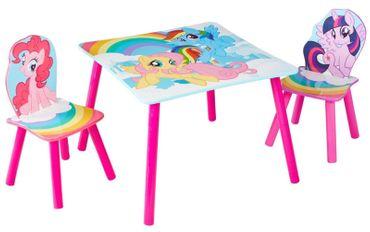 My Little Pony Sitzgruppe 1 Tisch 2 Stühle Einhorn Möbel Kindermöbel pink 527MLN