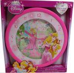 Disney Princess Wanduhr XXL 36 cm Uhr Kinderuhr Fanuhr Prinzessin Aurora Rosa 001