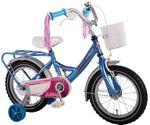 14 Zoll Kinderfahrrad mit Rücktritt und Stützräder Fahrrad Mädchenfahrrad 61434 001