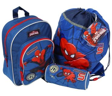 SpiderMan 3 tlg Set Rucksack Turnbeutel Schlamperrolle Marvel Spider Man 4248