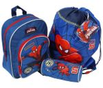SpiderMan 3 tlg Set Rucksack Turnbeutel Schlamperrolle Marvel Spider Man 4248 001