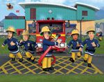 Feuerwehrmann Sam Tapete 305x244 cm Fototapete Wandbild Jungen Kindertapete  001