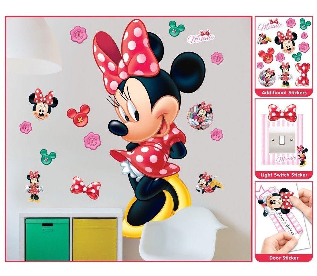 minnie mouse wandsticker xxl 1 22 m kinderzimmer dekoration wandbild wandtattoo ebay. Black Bedroom Furniture Sets. Home Design Ideas