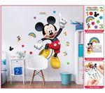 Mickey Mouse Wandsticker XXL 1,22 m Kinderzimmer Dekoration Wandbild Wandtattoo 001